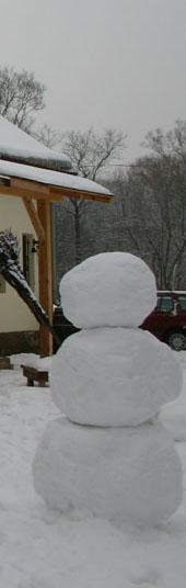 lekker veel sneeuw in de tsjechische winter